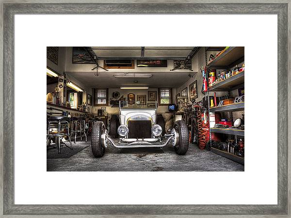 Birth Of A Roadster Framed Print