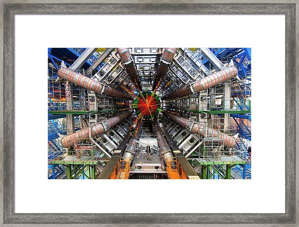 Black Hole Event Framed Print by Cern