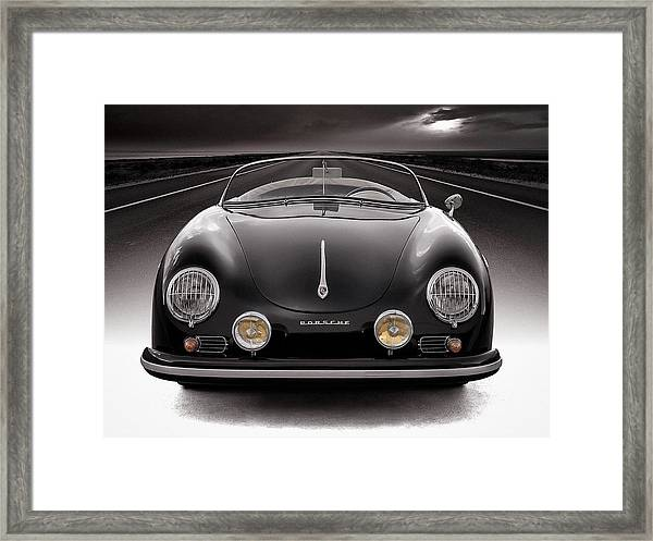 Black Porsche Speedster Framed Print