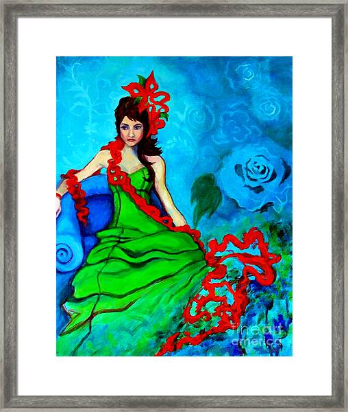 Blue Compliments Framed Print