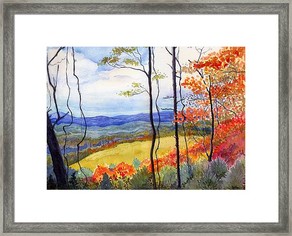 Blue Ridge Mountains Of West Virginia Framed Print