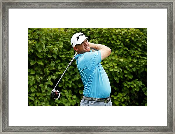 Bmw Championship - Round Two Framed Print by Jamie Squire