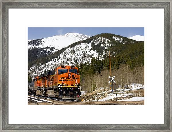 Bnsf Rolls Through Rollins Pass Colorado Framed Print