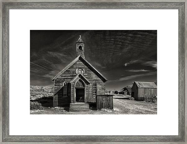 Bodie Church Framed Print by Robert Fawcett