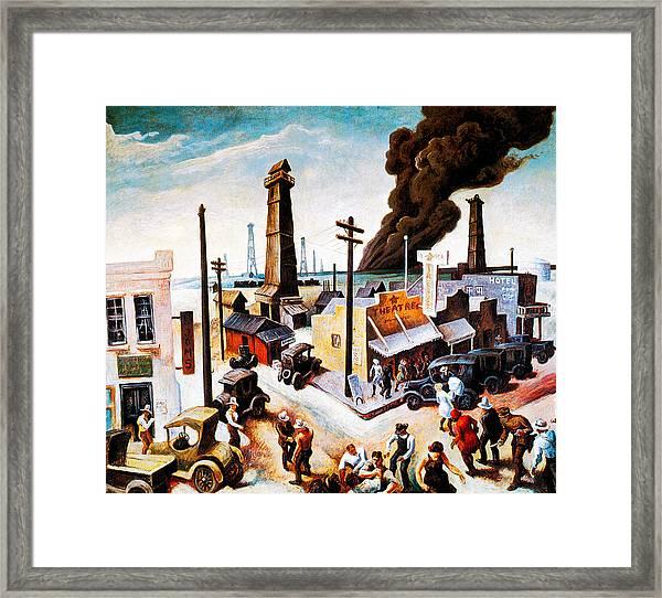 Boomtown Framed Print