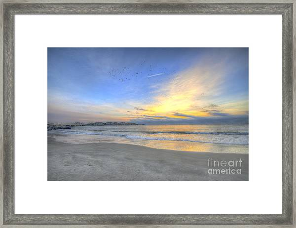 Breach Inlet Sunrise Framed Print