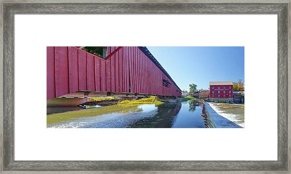 Bridgeton Bridge And Mill Framed Print