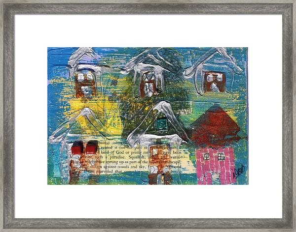 Brown House No 3 Framed Print