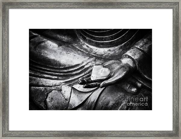 Buddha Heart Framed Print