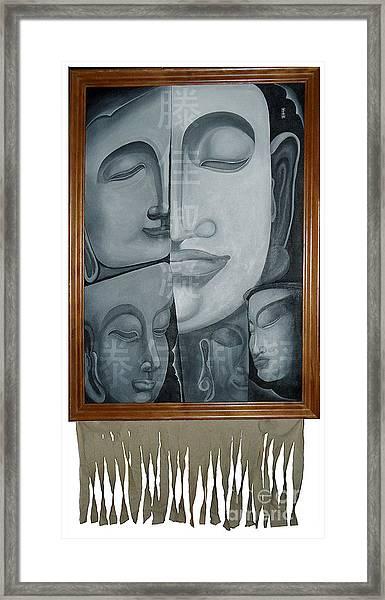 Buddish Facial Reactions Framed Print