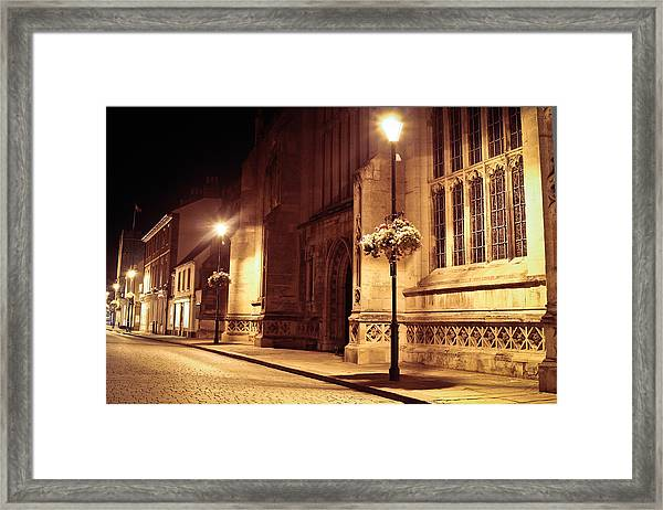 Bury St Edmunds Night Scene Framed Print
