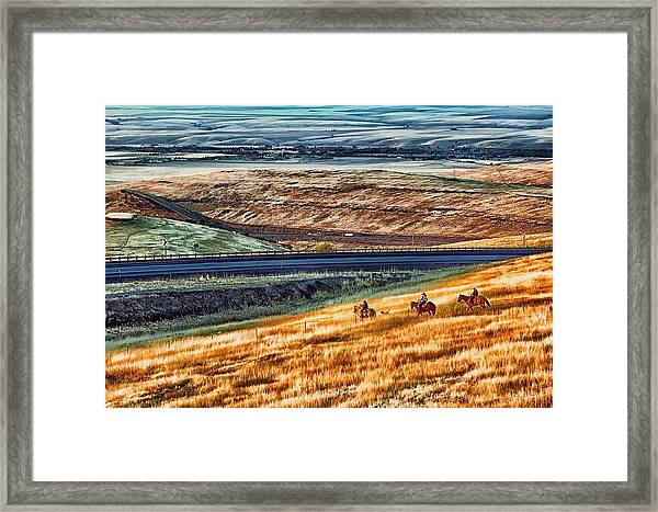 Cabbage Hill Pendleton Oregon Framed Print