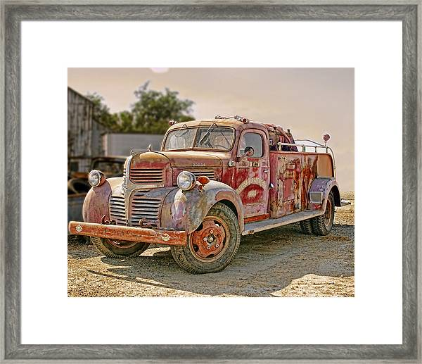 Calusa Rural Fire Truck No2 Framed Print