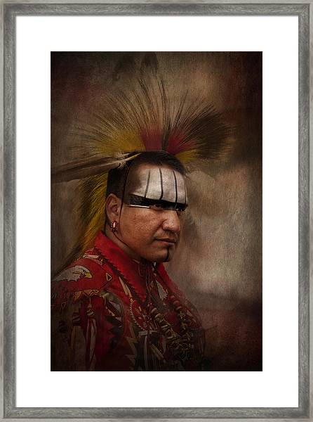 Canadian Aboriginal Man Framed Print