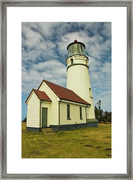 Cape Blanco Lighthouse, Cape Blanco Framed Print by Michel Hersen