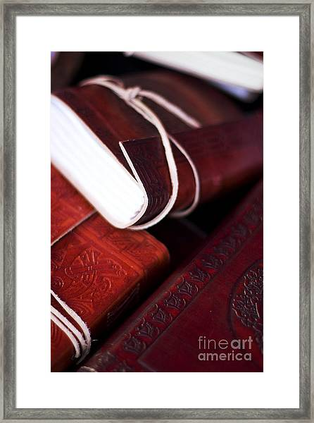 Captains Log Books Framed Print