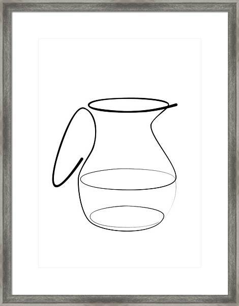 Carafe Line Framed Print