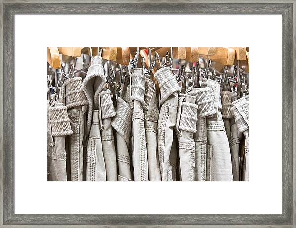 Casual Trousers Framed Print