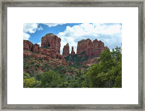 Framed Print featuring the photograph Cathedral Rock by David Armstrong