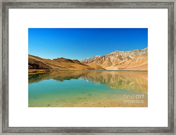 Chandratal Lake Framed Print