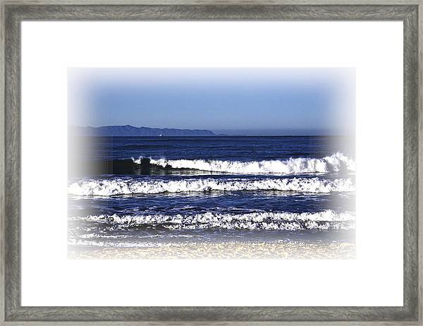 Framed Print featuring the photograph Channel Islands View by William Havle