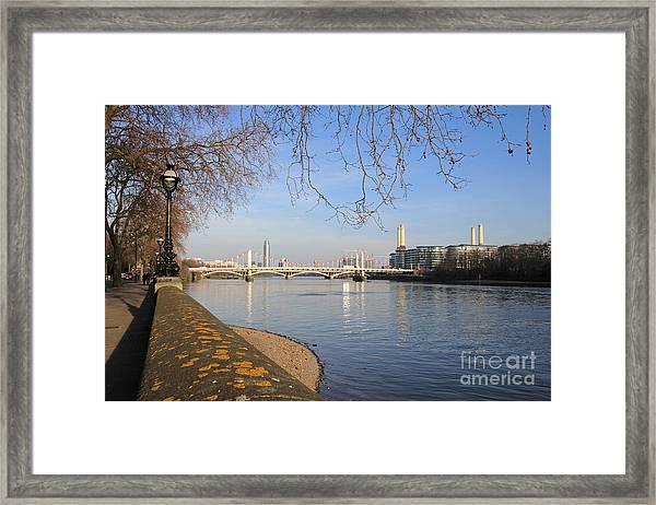 Chelsea Embankment London Uk Framed Print