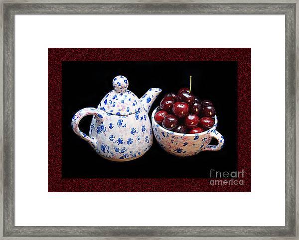 Cherries Invited To Tea 2 Framed Print