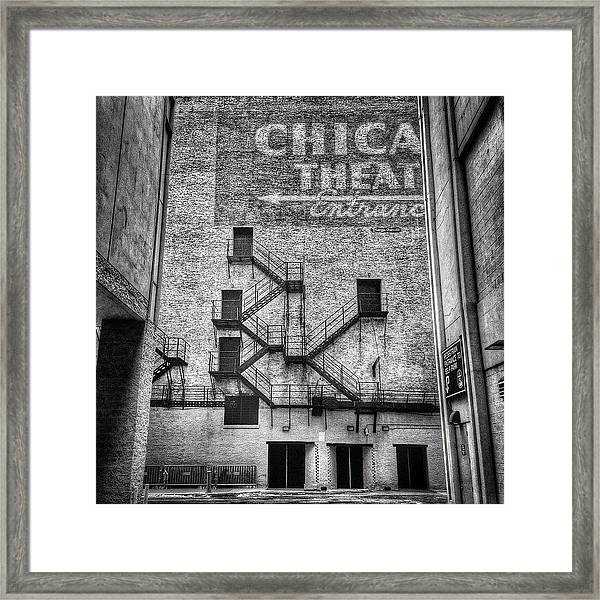 Chicago Theatre Alley Entrance Photo Framed Print