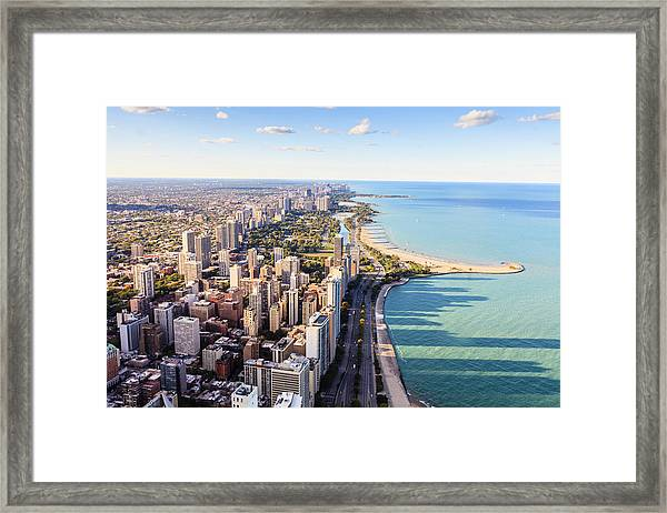 Chicago Lakefront Skyline Framed Print by Fraser Hall