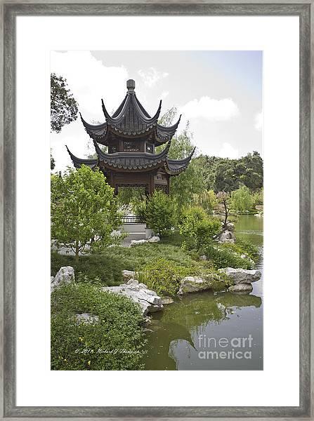 Chinese Water Garden Framed Print