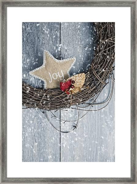 Christmas Wreath Framed Print