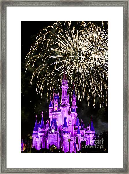Magic Kingdom Cinderella Castle Framed Print