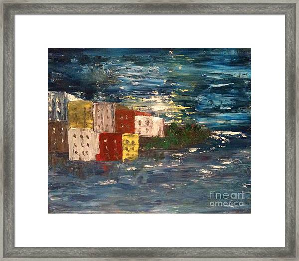 City By The Sea Framed Print