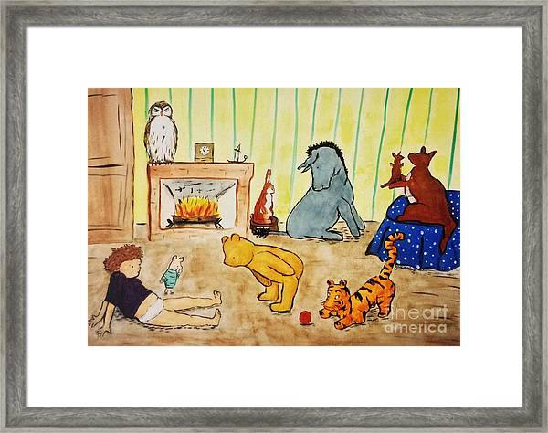 Classic Winnie The Pooh And Friends Framed Print