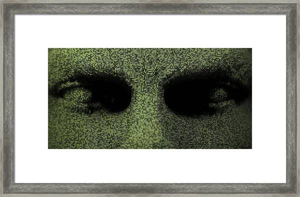 Close Up Of Three Dimensional Eyes Framed Print