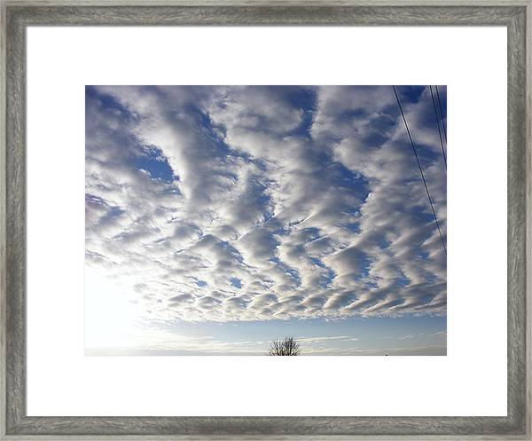 Cloud Deck Framed Print