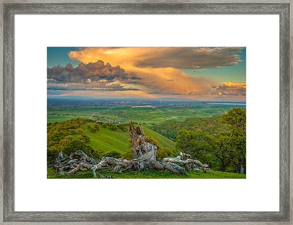 Clouds Over Central Valley At Sunset Framed Print
