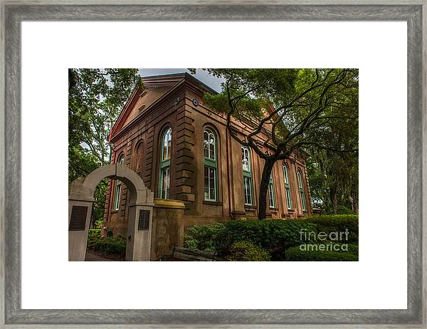 College Of Charleston Campus Framed Print