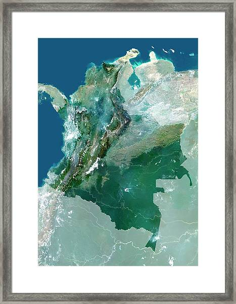 Colombia Framed Print by Planetobserver/science Photo Library