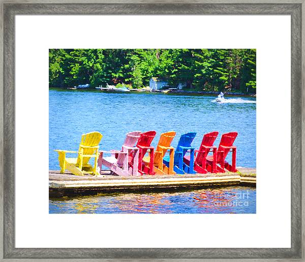 Colorful Chairs Framed Print
