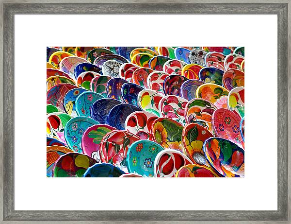 Colorful Mayan Bowls For Sale Framed Print