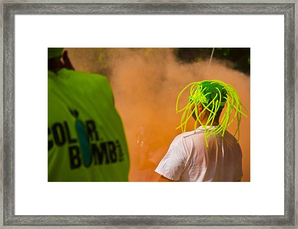 Colour Bombing Framed Print by Debbie Cundy
