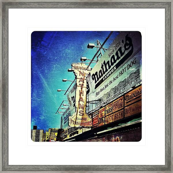 Coney Island Grub Framed Print