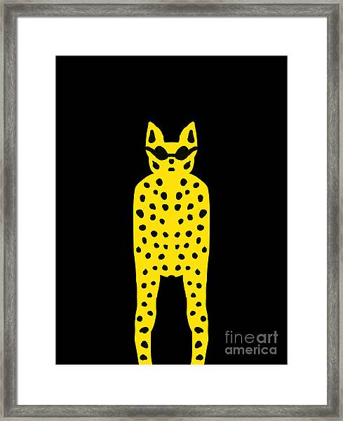 Simply Cool For Cats  Framed Print