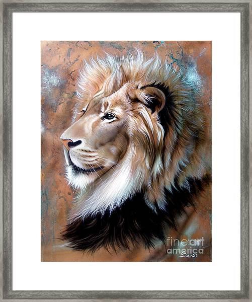 Copper King - Lion Framed Print