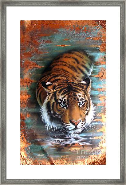 Copper Tiger II Framed Print