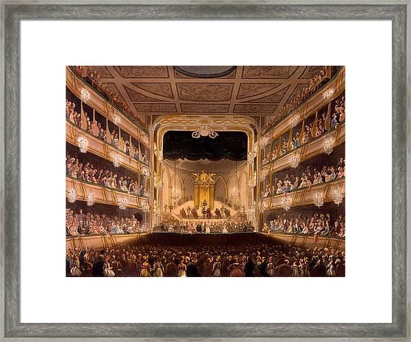 Covent Garden Theater Framed Print