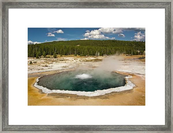 Crested Pool, Upper Geyser Basin Framed Print