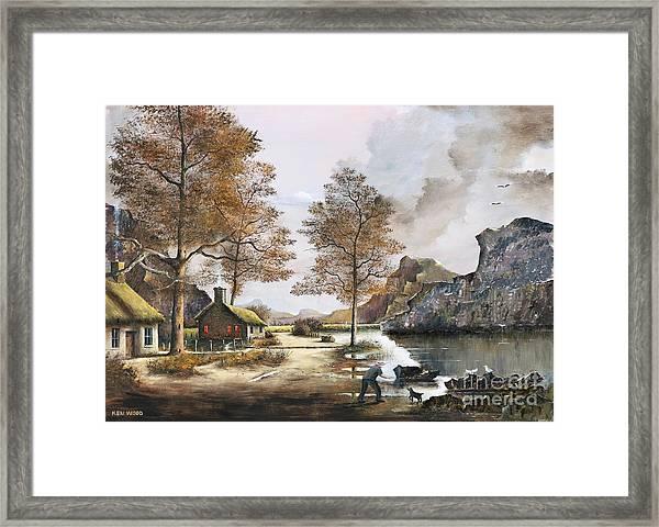 Crofters Cottages Framed Print