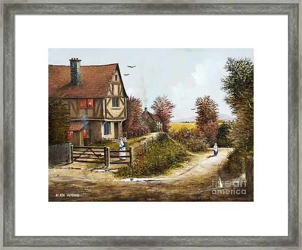 Cropthorne - Worcester Framed Print